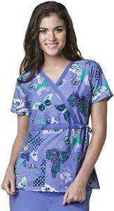 WonderWink Paris Dream Mock Wrap Scrub Top
