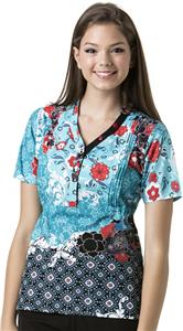 WonderWink Santa Fe Mock Wrap Scrub Top