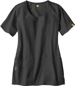 WonderWink The Foxtrot Lady Fit Round Scrub Top