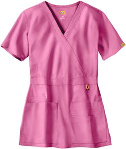 WonderWink The Golf Lady Fit Mock Wrap Scrub Top