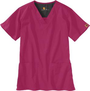 Carhartt Women's V-Neck Two-Pocket Scrub Top