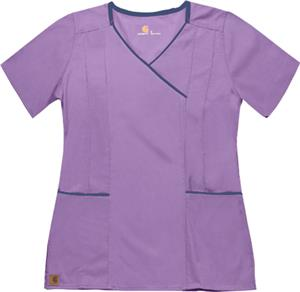 Carhartt Women's Y-Neck Fashion Scrub Top