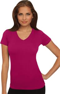 Next Level Pink Women's The Sporty V-Neck T-Shirts