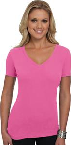 Next Level Pink Women's The Deep V-Neck T-Shirts
