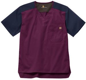 Carhartt Men's Color Block Scrub Utility Top