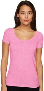 Next Level Pink Women's The Scoop Tee Shirts