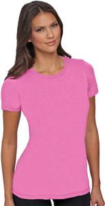 Next Level Pink Women's The CVC Crew T-Shirts