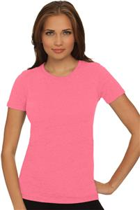 Next Level Pink Women's Tri-Blend Crew T-Shirts