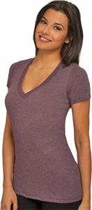 Next Level Women's Tri-Blend Deep V-Neck T-Shirts