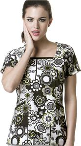 WonderWink Retro Patch Square Neck Scrub Top