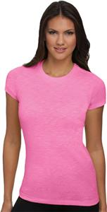 Next Level Pink Women's The Slub Crew T-Shirts