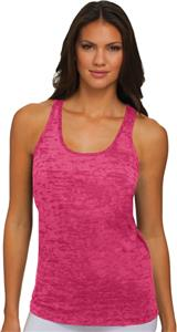 Next Level Pink Women's Burnout Razor Tank Tops