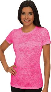 Next Level Pink Women's The Burnout Tee Shirts