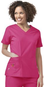 Mary Engelbreit Women's Basic V-Neck Scrub Top