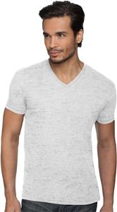 Next Level Men's Burnout V-Neck T-Shirts