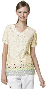 Mary Engelbreit Womens Full of Posies V-Neck Top