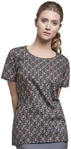 Mary Engelbreit Womens Midnight Bloom Top