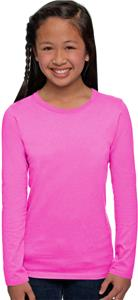 Next Level Pink Girl's The Princess L/S Tee Shirts