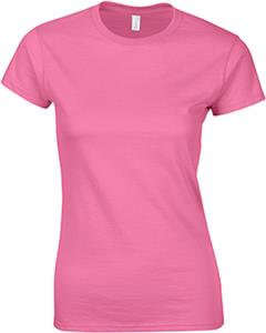 Gildan Pink Softstyle Junior Fit T-Shirts