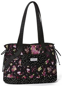 Mary Engelbreit Ribbon of Hope SideTie Quilted Bag