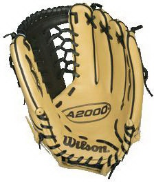 "Wilson 12.5"" Leather Outfield Baseball Gloves"