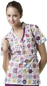 WonderWink Blissful Nature Scrub Top