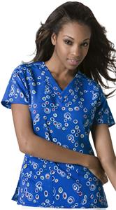 WonderWink Miss Bubble V-Neck Scrub Top