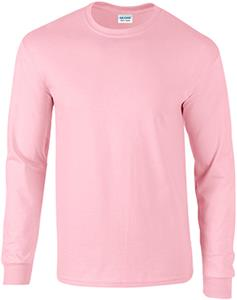 Gildan Pink Ultra Cotton Adult Long Sleeve T-Shirt