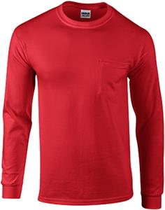 Gildan Ultra Cotton Adult L/S T-Shirts with Pocket
