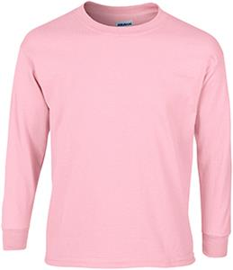 Gildan Pink Ultra Cotton Youth Long Sleeve T-Shirt