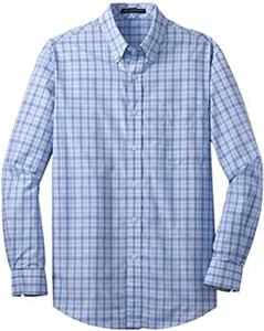 Port Authority Adult Crosshatch Plaid Shirts