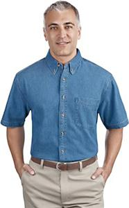 Port & Company Adult SS Value Denim Shirts
