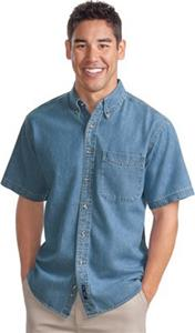 Port Authority Adult Short Sleeve Denim Shirts