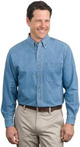 Port Authority Adult Tall Long Sleeve Denim Shirts