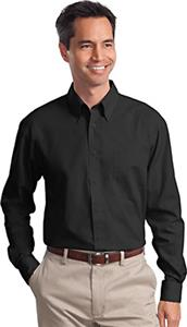 Port Authority Adult Long Sleeve Poplin Shirts
