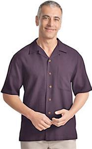 Port Authority Adult Silk Blend Camp Shirts