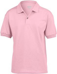 Gildan Pink DryBlend Youth Jersey Sport Shirt Polo