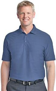 Port Authority Adult Horizonal Texture Polo Shirts