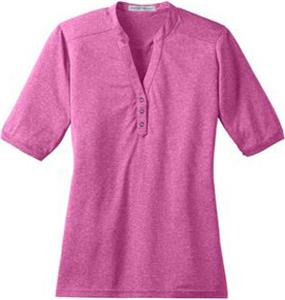 Port Authority Ladies Performance Cross Dye Henley