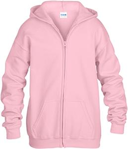 Gildan Pink Heavy Blend Full-Zip Hooded Sweatshirt