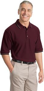 Port Authority Adult Cool Mesh Polo w/Tipping Trim