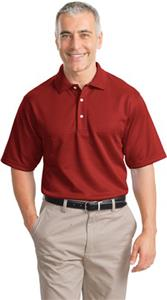 Port Authority Adult Shadow Stripe Interlock Polo