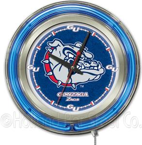 Holland Gonzaga Neon Logo Clock