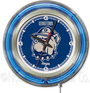 Holland Georgetown University Neon Logo Clock
