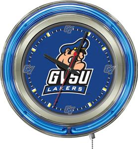 Holland Grand Valley State Univ Neon Logo Clock