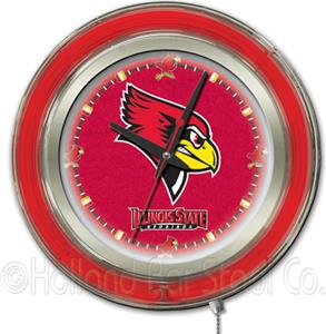 Holland Illinois State University Neon Logo Clock