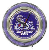 Holland James Madison University Neon Logo Clock