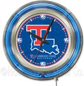 Holland Louisiana Tech University Neon Logo Clock
