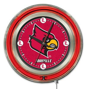 Holland University of Louisville Neon Logo Clock
