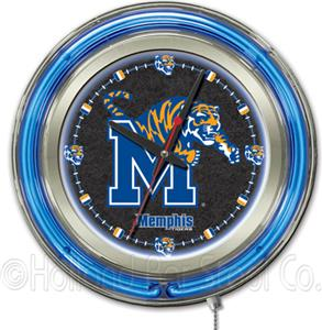 Holland University of Memphis Neon Logo Clock